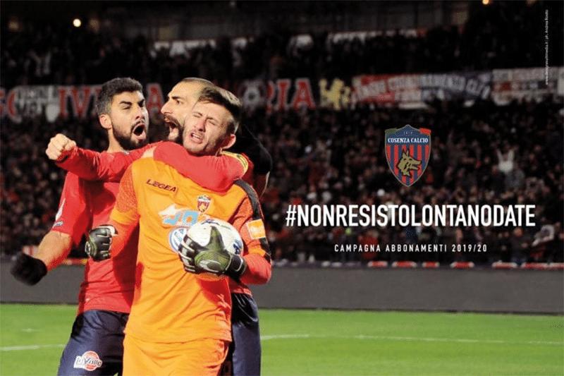 """""""Non resisto lontano da te"""" la nuova campagna abbonamenti del Cosenza Calcio"""